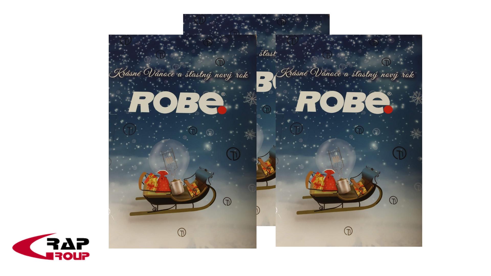 Interaktivní přání PF 2019 pro firmu ROBE lighting